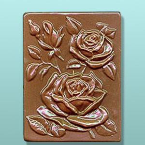 Chocolate Rose Flower Gift Plaque