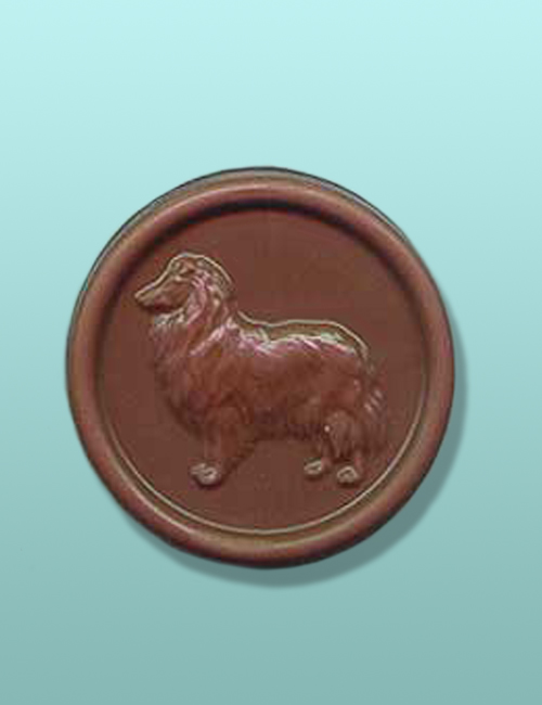 Chocolate Rough Collie Dog Medallion