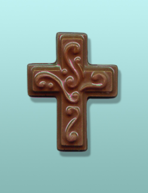 Chocolate Scrolled Cross Small Favor