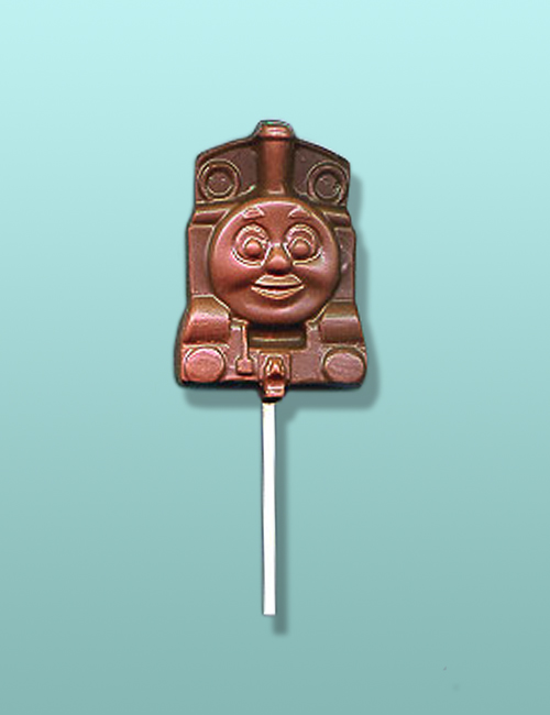 Chocolate Train Engine Smiling Lolly