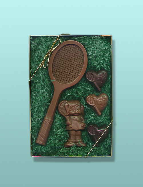 Chocolate Tennis Player Gift Set