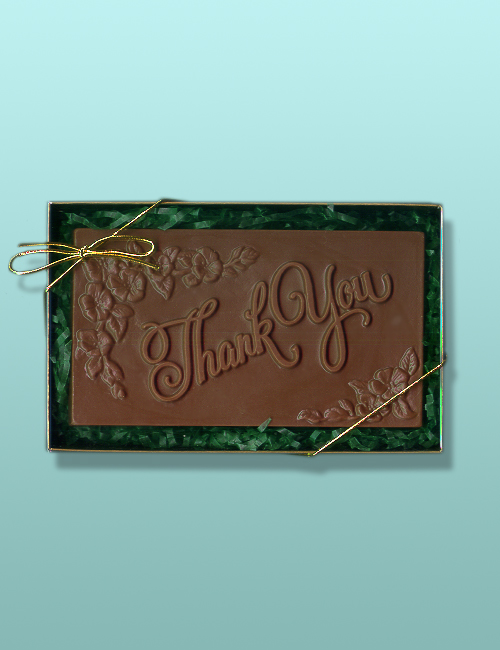 Thank You Chocolate Plaque Gift Set
