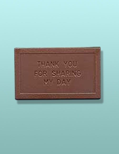 Thank You for Sharing My Day Chocolate Card