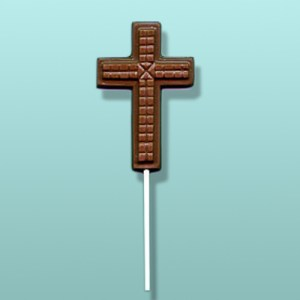 Chocolate Tiled Cross Party Favor
