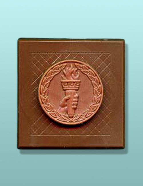 Chocolate Torch Medal Plaque