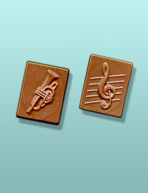 2 pc. Chocolate Trumpet Mini Favor