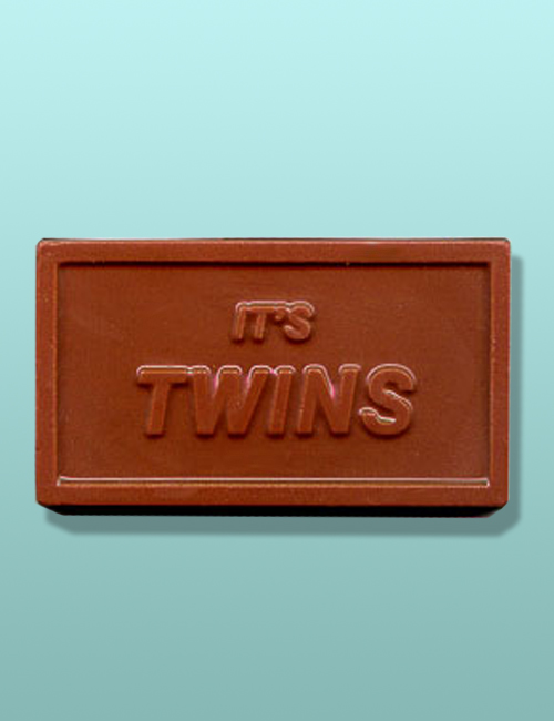 """Chocolate """"It's Twins"""" Party Favor"""