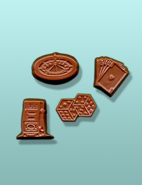 2 pc. Chocolate Las Vegas Mini Favor