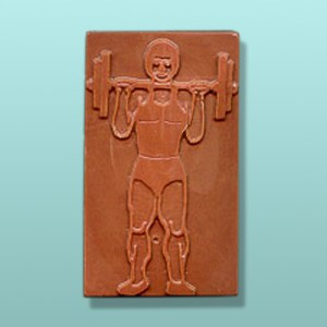 Chocolate Weight Lifter Bar Favor