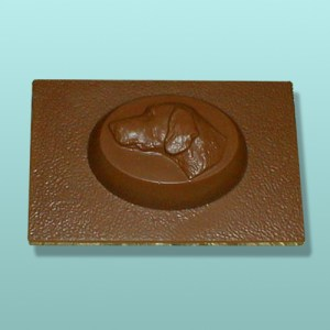 Chocolate Weimaraner Dog Flat Plaque