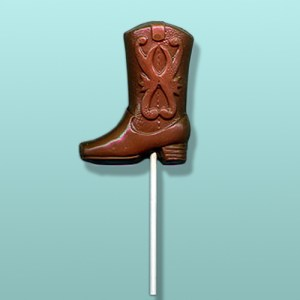 Chocolate Western Cowboy Boot Lolly