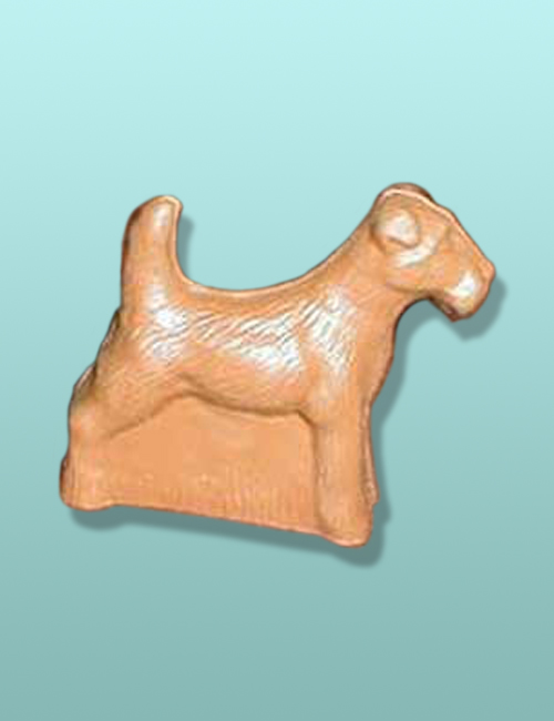 3D Chocolate Wire Fox Terrier Small Dog