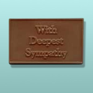 Chocolate With Deepest Sympathy Mini Card