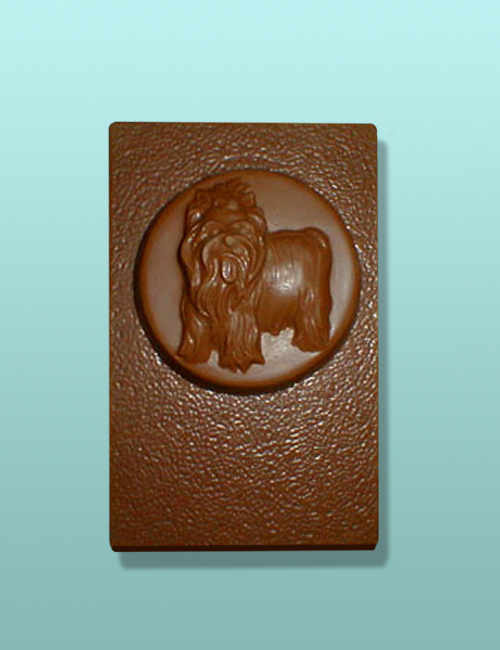 Chocolate Yorkshire Terrier Dog Flat Plaque