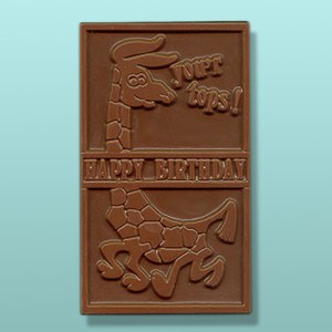 Chocolate Giraffe Happy Birthday Card