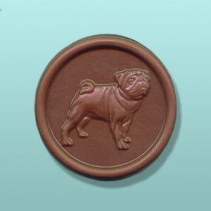 CHOCOLATE PUG DOG FAVORS