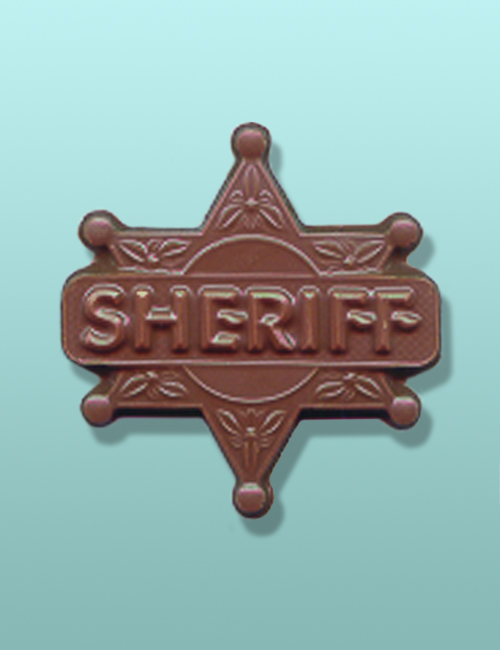 Chocolate Sheriff Badge Party Favor II