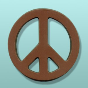 CHOCOLATE PEACE SIGN SYMBOL FAVORS