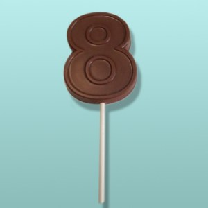 Chocolate Number 8 Party Favor