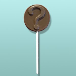 Chocolate Question Mark Medallion