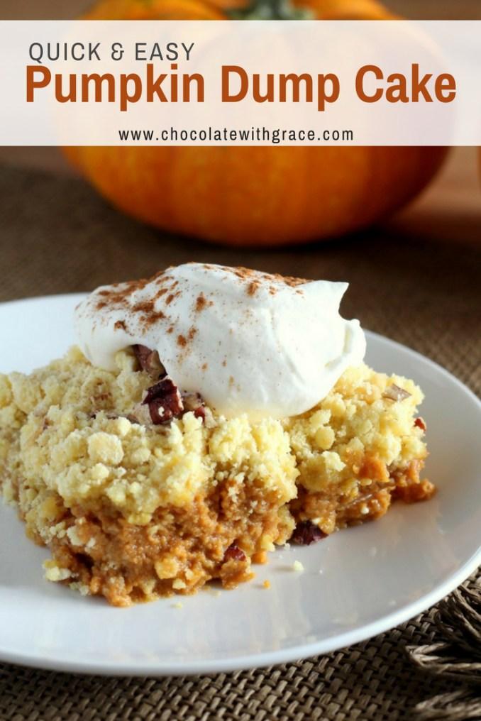 Pumpkin Crunch Dump Cake - Chocolate With Grace