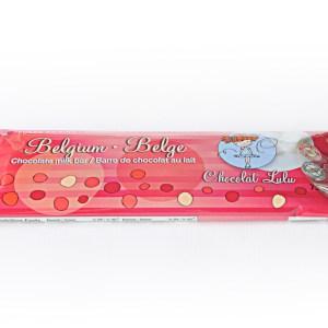 Barre de chocolat au lait belges