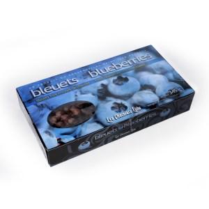 Bleuets frais enrobés de chocolat au lait