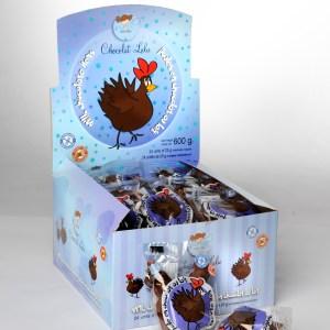 Poules de chocolat au lait