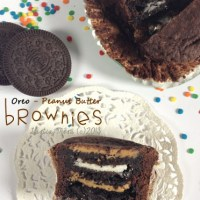 Oreo-Peanut Butter Brownies in Cups