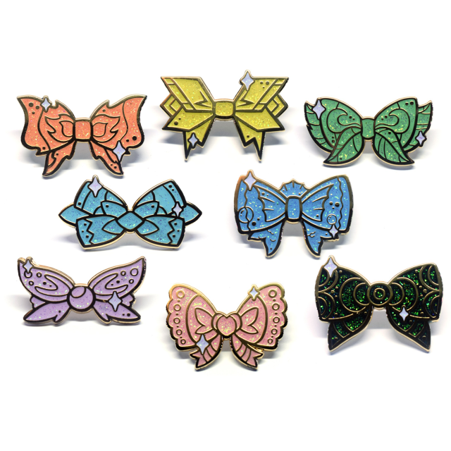 Eeveelution Bow Pins