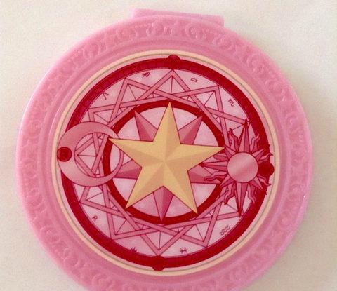 さくらカード柄ミラー表面(ピンク)