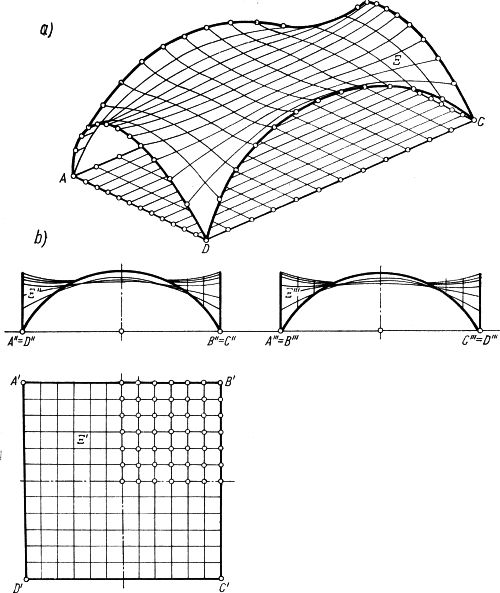 Płat powierzchni rozpięty nad kwadratowym rzutem