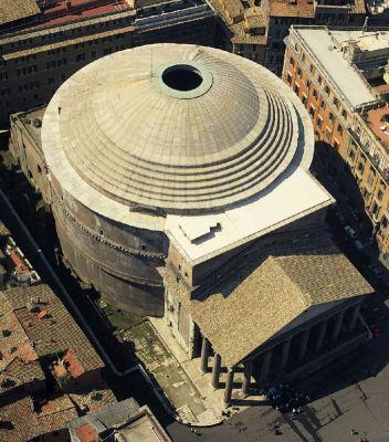 Kopuła Panteonu w Rzymie 125r