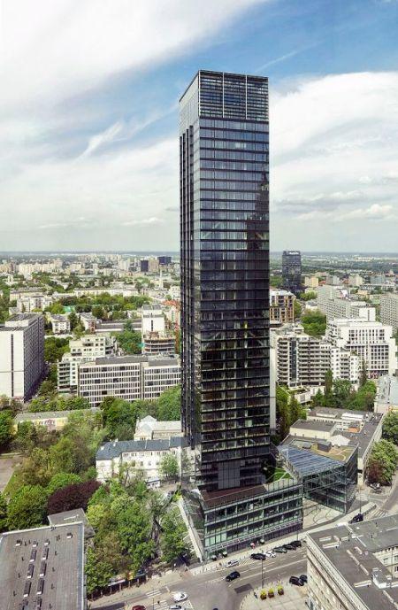 Wieżowiec żelbetowy Comopolitan Twarda w Warszawie