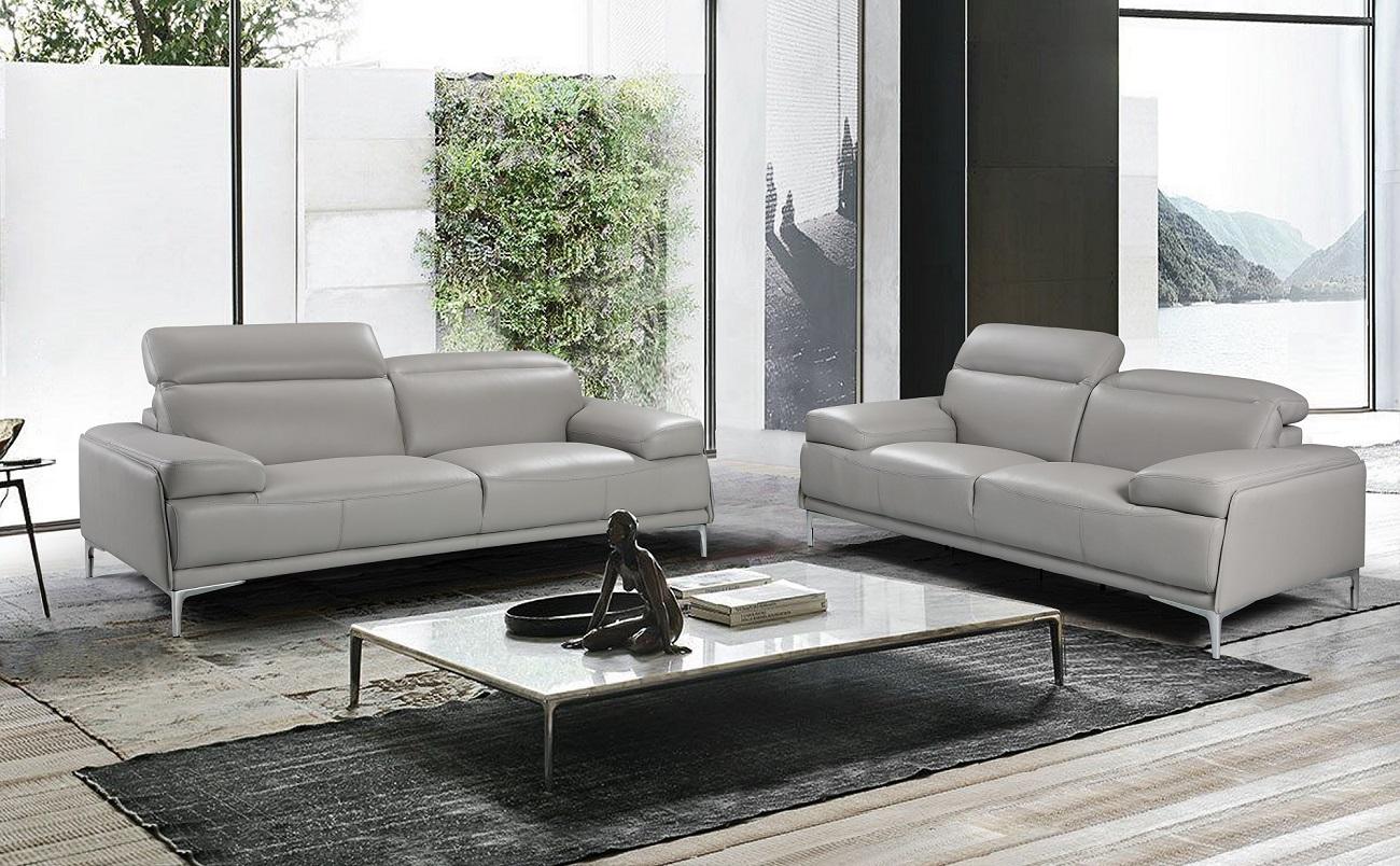 nicolo light grey premium leather