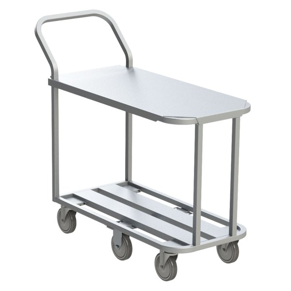 6 Wheel Channel Utility Cart with Aluminum Top