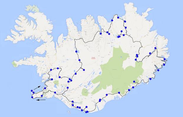 island roadtrip karte