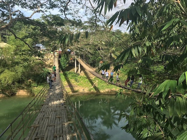 Bamboo Hanging Bridge Philippinen