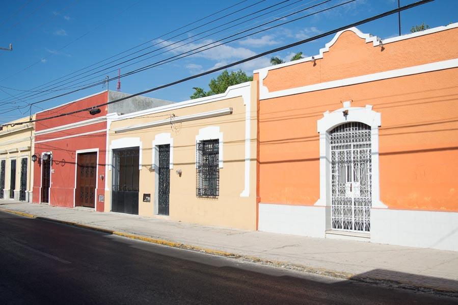 Bunte Häuser in Mérida