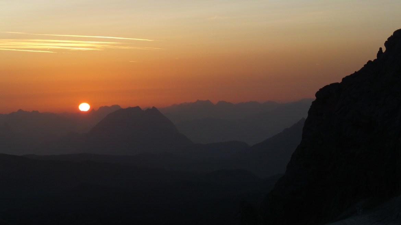 Oesterreich Sonnenuntergang
