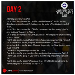 2017 FORTY DAYS FASTING & PRAYER GUIDE  rccg-fasting-day-2