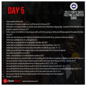 RCCG FASTING DAY 5