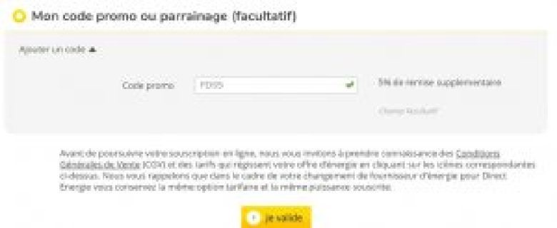 Code Promo Direct Energie FDS5