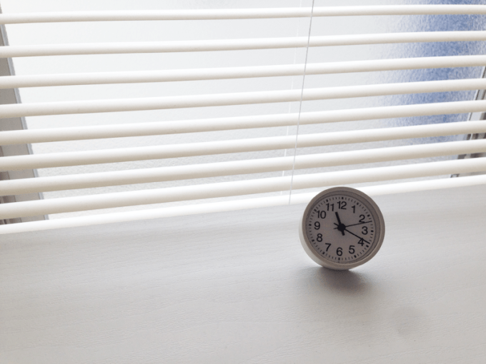 無印の置き時計