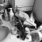 「掃除しにくくないのかな…」実家の洗面所を片付けして掃除しやすくしました