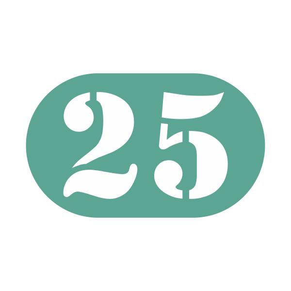 25-tal stickers