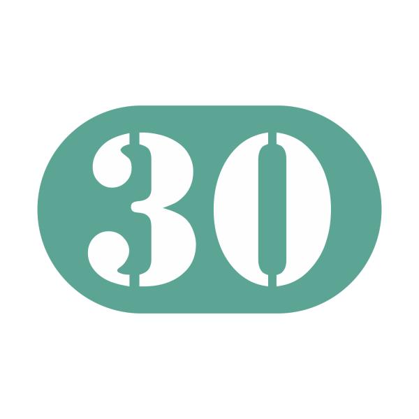 30-tal stickers