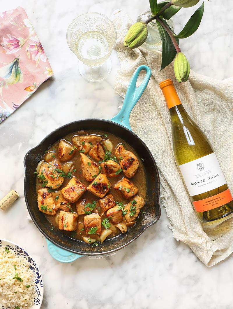 Pollo en salsa de ajo y chardonnay-2