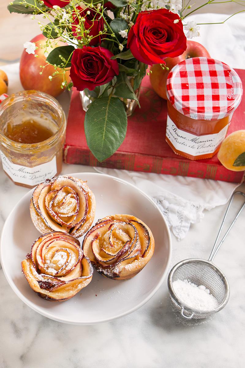 rosas de manzanas y hojaldre para mama 1
