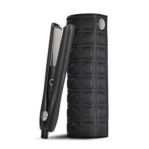 👕️ ghd gold styler – Plancha de pelo profesional para todo tipo de cabello, tecnología dual-zone, dos sensores para una temperatura homogénea, alisa, crea ondas o rizos + Neceser térmico planc